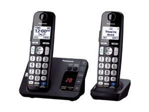 Panasonic KX-TGE232B DECT 6.0 Expandable Digital Cordless Answering System with 2 handsets