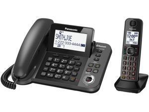 Panasonic KX-TGF380M DECT 6.0 1-Handset Bluetooth Landline Telephone with corded based unit
