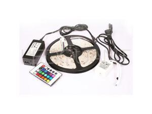 SMD 5050 60LED/M Led Flexible Strip Color Changing RGB 16.4FT/5M +IR Remote Led Controller +Power supply