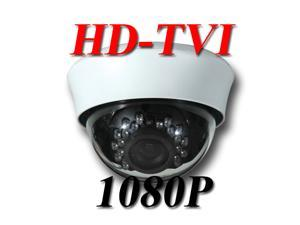 HD-TVI 1080P Indoor Dome Camera 2.8mm~12mm White, Security, Surveillance, Infrared, IR Varifocal, 1920 x 1080, High ...