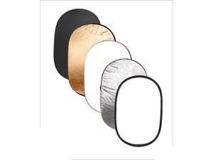 "Multi Color 24"" x 36"" Collapsible Photo Studio Light Reflector Discs"