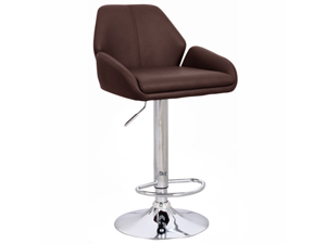 "Set of 2 Tesla Contemporary ""Leather"" Adjustable Barstool - Espresso"