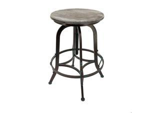 Set of 4 Chester Retro Steel Rotating Adjustable Height Barstool - Vintage Copper