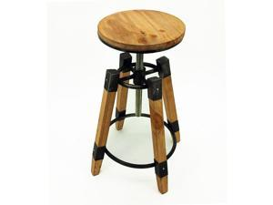 Set of 2 Wyland Rustic Contemporary Wood/Steel Barstool