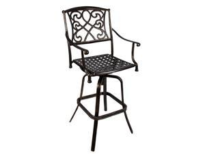 Wilshire Rotating Cast Aluminum Outdoor Chair/Bar Stool