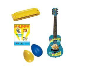 Minions Acoustic Guitar w/Happy (Despicable Me 2) Sheet Music & Kids Music Fun Pack