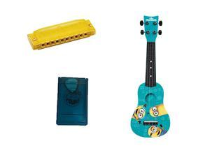 Minions Mini Guitar w/Pick Case & Harmonica