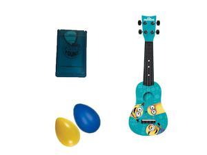 Minions Mini Guitar w/Pick Case & Rhythm Shakers