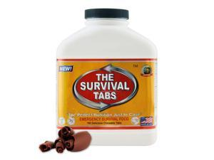 3x Survival Tabs - Emergency Survival Food Supply Tablets (Chocolate Flavor) [Non-GMO, Gluten-Free, 25 Year Shelf Life]