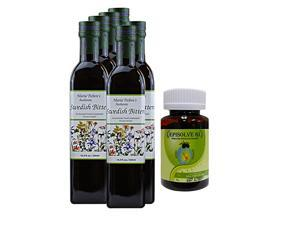 Maria Treben's Authentic Swedish Bitters (16.9oz/500ml) x 6 AND Episolve GI - Cures for Heartburn (60 capsules)