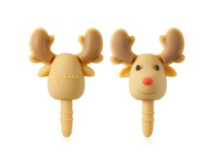 Bone Collection Deer Ear Cap 3.5mm Earphone/Headphone Jack Protector - Brown