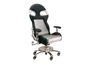 Intro-Tech Automotive FO8000S Formula One SILVER Racing Desk Chair With Warranty