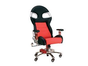 Intro-Tech Automotive FO8000R Formula One RED Racing Desk Chair With Warranty