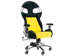 Intro-Tech Automotive FO8000Y Formula One YELLOW Racing Desk Chair With Warranty