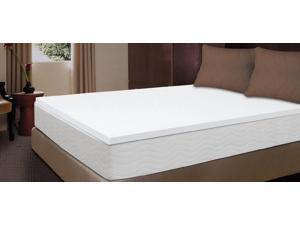 "Sealy 1.5"" 3 lb Density Premium Memory Foam Bed Topper w/o Topper Cover (King)"
