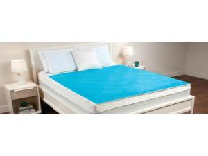 Comfort Revolution TWIN CERULEAN BUBBLES Hydraluxe Cooling Gel Bed Mattress Pad
