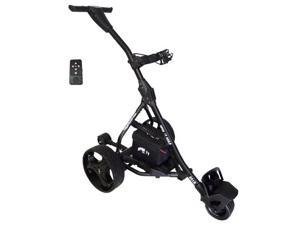 Spin It Golf Easy Trek BLACK Electric Remote Controlled Bag Cart Caddy Trolly