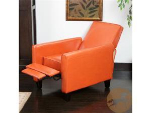 Christopher Knight Home 252422 Darvis Leather Recliner Club Chair - Orange
