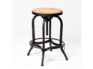 Christopher Knight Home 234615 Adjustable Natural Fir Wood Finish Barstool