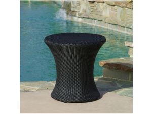 Christopher Knight Home Adriana Black Wicker Outdoor Accent Table