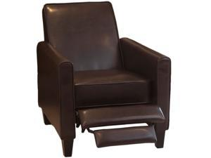 Christopher Knight Home Leather Recliner Club Chair - Brown