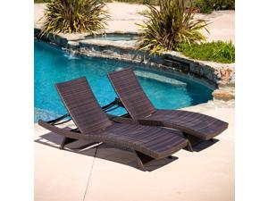 Christopher Knight Home Toscana Outdoor Brown Wicker Lounge Chairs (Set of 2)