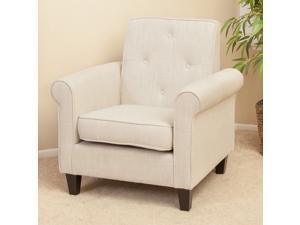 Christopher Knight Home Isaac Tufted Beige Fabric Club Chair