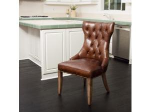 Wharton Top Grain Leather Dining Chair (single)