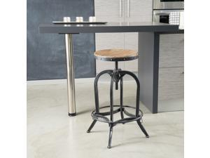Christopher Knight Home Lucian Fir Top Adjustable Barstool