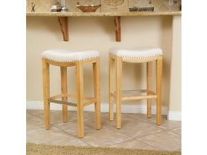 Christopher Knight Home Christopher Knight Home Avondale Beige Backless Bar Stool (Set of 2)