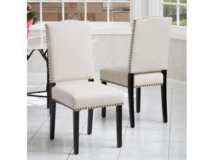Christopher Knight Home Brunello Fabric Dining Chair (Set of 2) - 238665  Beige