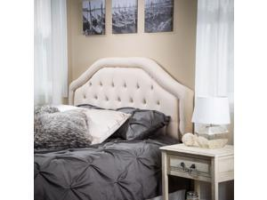 Christopher Knight Home Angelica Queen/Full Tufted Beige Fabric Headboard