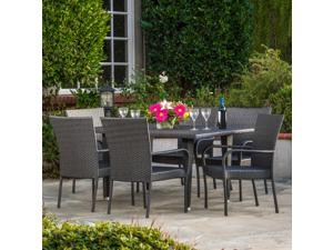 Christopher Knight Home Outdoor Delani 7-piece Wicker Dining Set