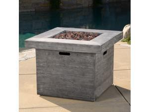 Christopher Knight Home Dakota Outdoor 32-inch Square Liquid Propane Fire Pit with Lava Rocks