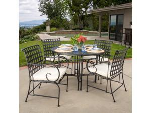 Christopher Knight Home Rincon Outdoor 5-Piece Dining Set with Cushions