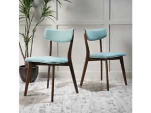 Christopher Knight Home Fauna Mid-Century Fabric Dining Chair (Set of 2)