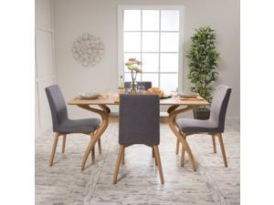 Christopher Knight Home Orrin Mid-Century 5-piece Rectangle Dining Set