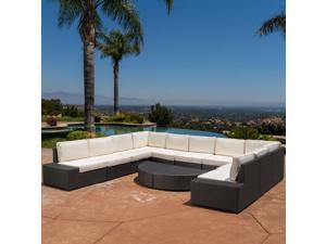 Christopher Knight Home Santa Cruz Outdoor 12-piece Wicker Sofa Set with Cushions