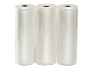 "Three VacMaster 11"" X 50' Rolls of Bags for Foodsaver and other Vacuum Sealer Machines"