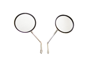 "2 Chrome 4"" Round Replacement Motorcycle Mirrors Pair for Yamaha RS100,RS 200"