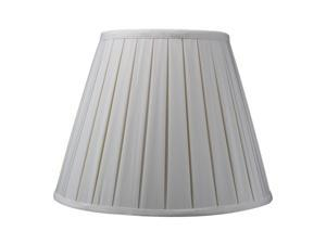 Eggshell Empire Box Pleat Lamp Shade Shantung Fabric Lamp Shade 8x14x11