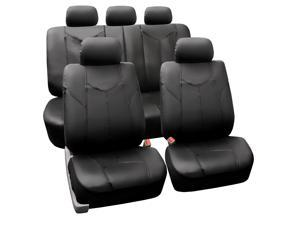 FH Group PU Leather Classic Rome Style Complete Set Airbag and Rear Split Compatible Black