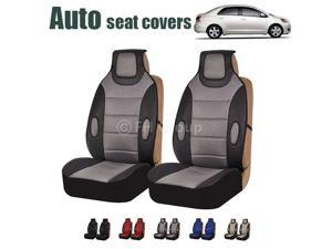 Gray Leatherette Seat Cushion Pads Seat Covers for Cars