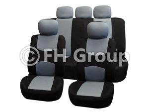 Fabric Seat Covers Airbag Compatible & Split Rear W. 5 Detachable Headrests