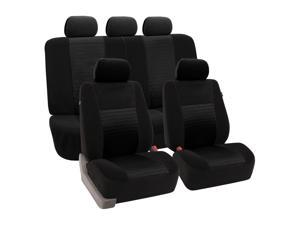 11pc Solid Black Trendy Elegance Complete SUV Seat Covers Full Set