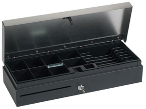 FLIPTOP CASH DRAWER&#59;EPSON INTF STAINLESS LID&#59;8 COIN X 6 BILL
