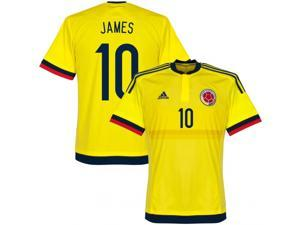 Men's Copa America 2015 Colombia James 10 Home Soccer Jersey (US Size Small)
