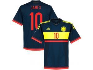Men's Copa America 2015 Colombia James 10 Away Soccer Jersey (US Size Small)