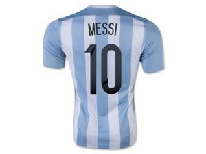 Men's Copa America 2015 Argentina Lionel Messi 10 Home Soccer Jersey (US Size Small)