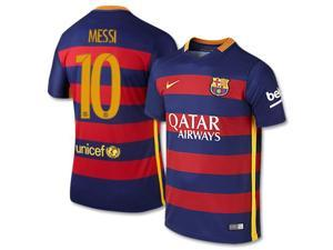 Men's 2015/16 FC Barcelona Lionel Messi 10 Home Soccer Jersey (US Size Small)